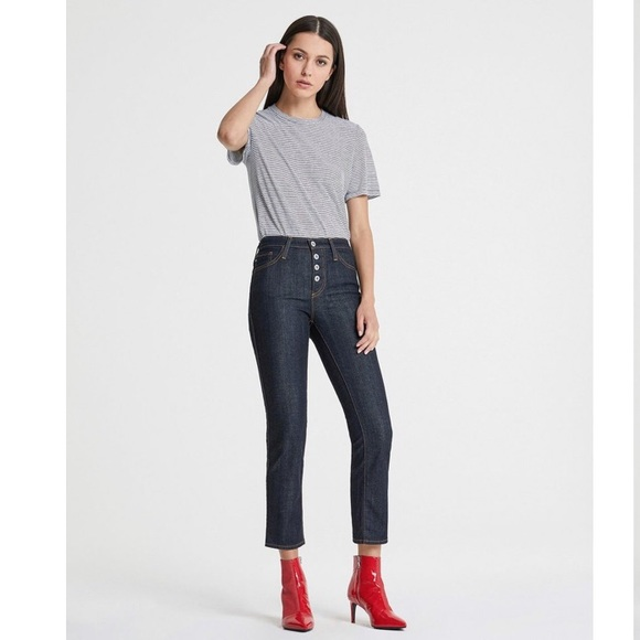 debfc389262053 Ag Adriano Goldschmied Jeans | Ag Isabelle High Rise Button Fly Crop ...
